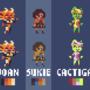 8 Bit Fanart: Joan, Sukie, Cactigal, Jinthe