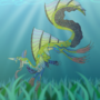 Aquatic Leap - MediBang Paint Creature Contest