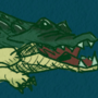 Cool alligator or crocodile drawing