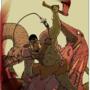 Orc killing snake