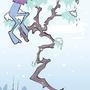 Furry bizzare purple winter by ErnestDesigns