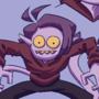 funny purple character again