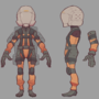 Backpack Operator character concept