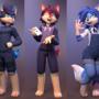 Kai, Teru, and Yukari
