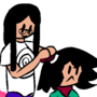 Older Sister combing her Brother's hair