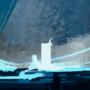 Dark blue landscape pratice