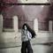 Goth girl in the fall