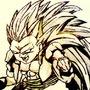 Super Saiyan 3 Gotenks by TRBNGR666