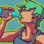 Plankton lady hydrates herself