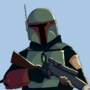 """Let's just say they might recognize my face."" boba fett fan art"