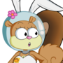 Bunny Squirrels: Sandy Cheeks and Scratte By Cloudcyanide