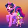 Twilight and Spike!