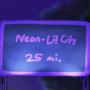 neon lit city