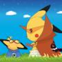 Gurren Lagann pokemon Crossove by sneakyferret