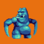 blue monster idle by adcrusher524