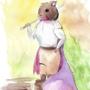 Warrior mouse watercolour 10/04/21
