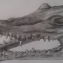 Crocodile Skull by JamesBeavers91