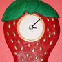 StrawberryClock Clock by Luwano