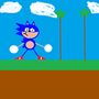 my quick drawing of sonic by sonicblueawsome