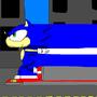 sonic running! by sonicblueawsome