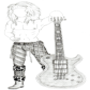 Glam And Guitars by Harlandgirl