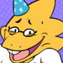 Alphys Birthday Gift Art