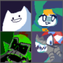 Four dumbasses but pixelated