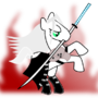 Sephiroth Pony by DepresiveNeko