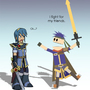 Marth & Ike by NinHoim