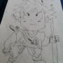 Son Goku Child Drawing by thenewmidishrine