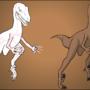 Raptor anatomy practice by Zullzee
