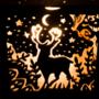 Forest animal lantern deer side