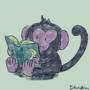 monkey reading up on things