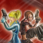 Samus and Lara by BinaryDood