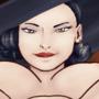 Lady Dimitrescu punishing Ethen