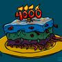Alien Cake by HybridMind