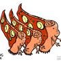 Alien Pizza by HybridMind