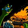Alien Campfire by HybridMind