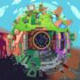 Sonic the hedgehog pixel globe