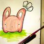 Pink Bunny by kalapowaboom