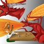 Dragon VS Elf poster