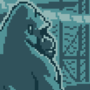 gorilla sitting on a comically small chair