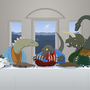 Last Supper of Raptor Jesus by Sexual-Lobster