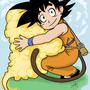 Goku and Nimbus by Syringes