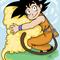 Goku and Nimbus