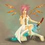 Pink Haired Dev by JewelMaiden