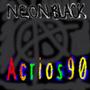 Neon Black Album Cover by acrios90