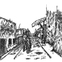Ruined street by Impus