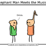 elephant man meets music man by jayraffo