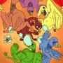 Greasy Geesy Rainbow Fun by MiddleFingerRings
